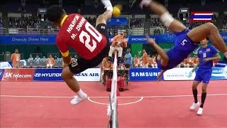 Thailand - Malaysia 2014 Asian Games SEPAKTAKRAW -Semifinal- - Stafaband