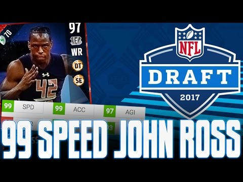 99 SPEED JOHN ROSS IS A GOON! ALL NEW NFL DRAFT PROMO PLAYER STATS LIST!