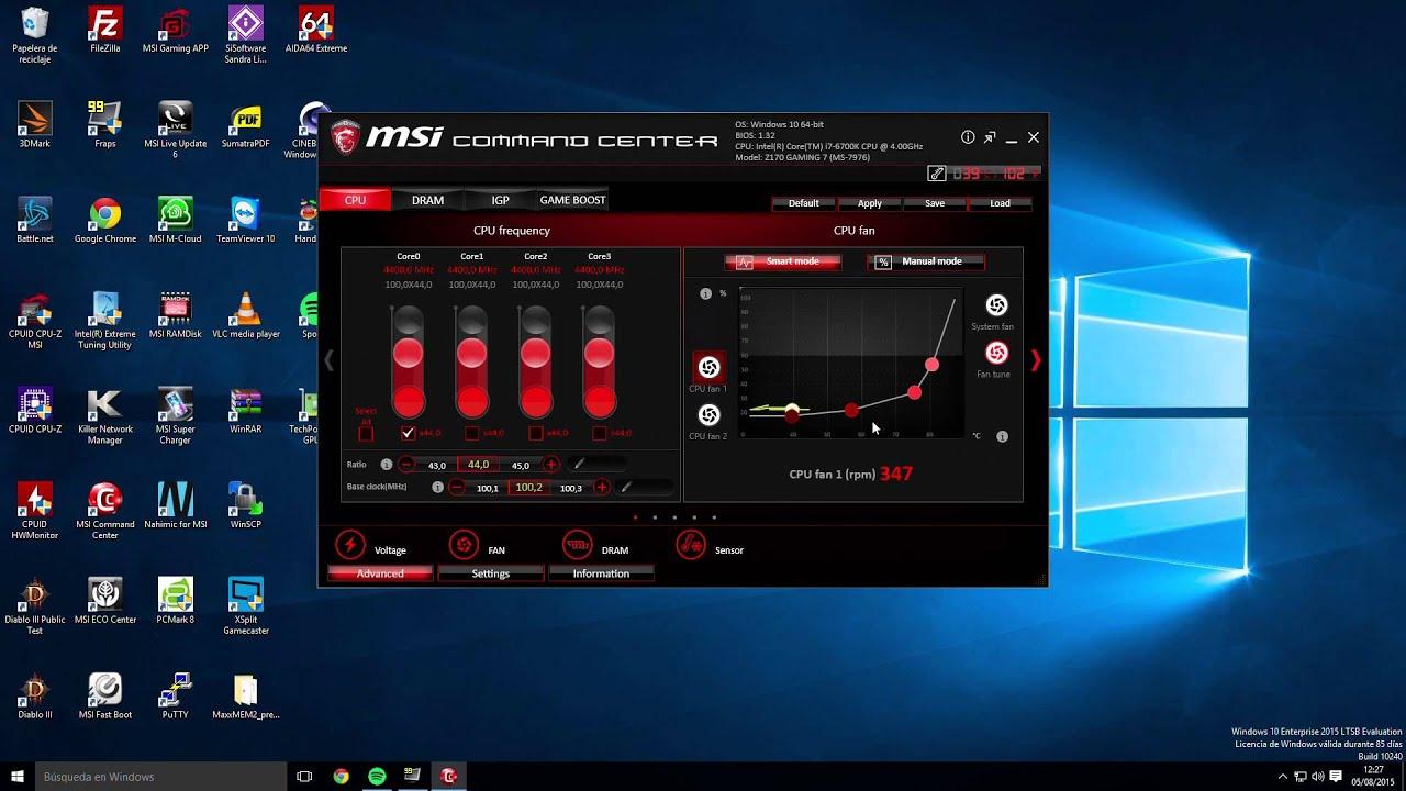 MSI Command Center - MSI Z170A Gaming M7 - HispaZone com