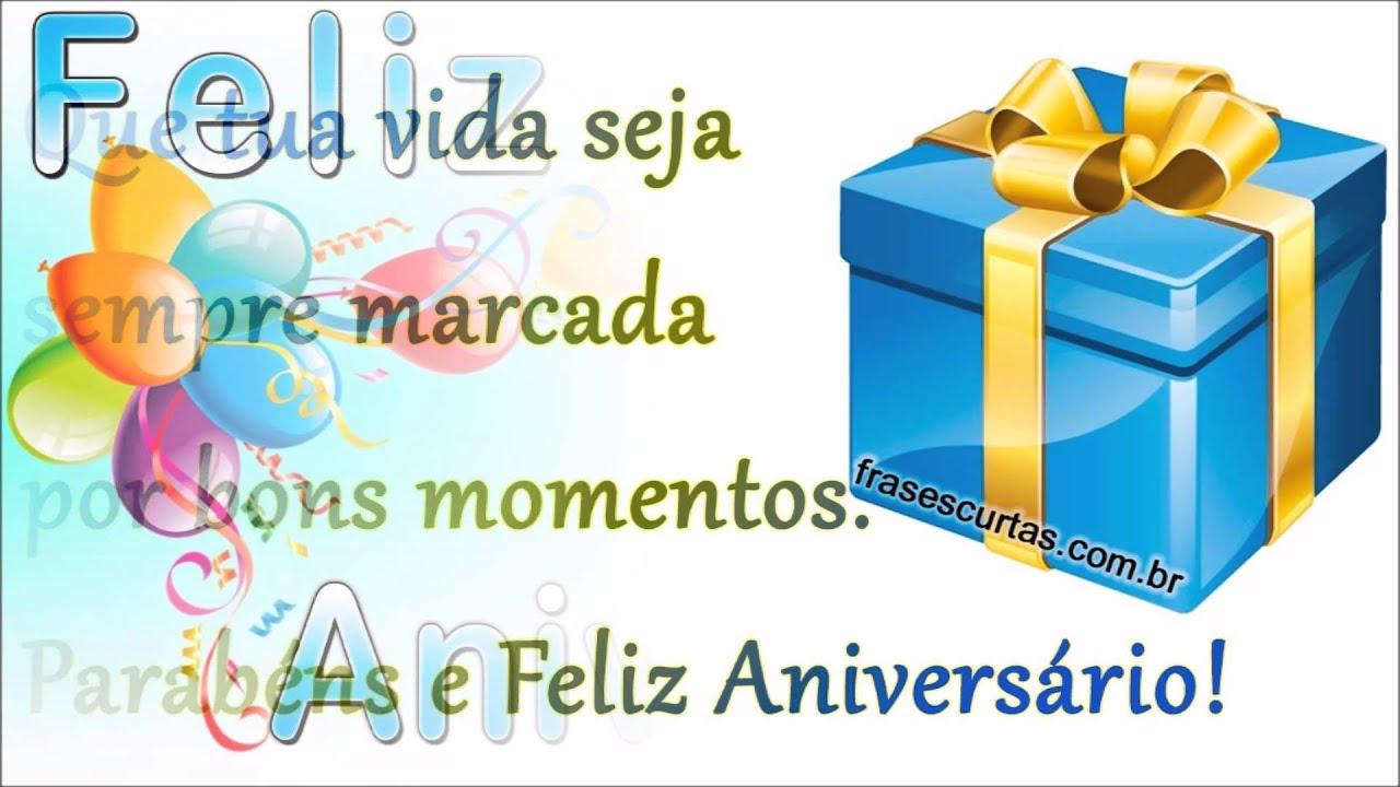 Mensagens Para Aniversario: Mensagem De Feliz Aniversário