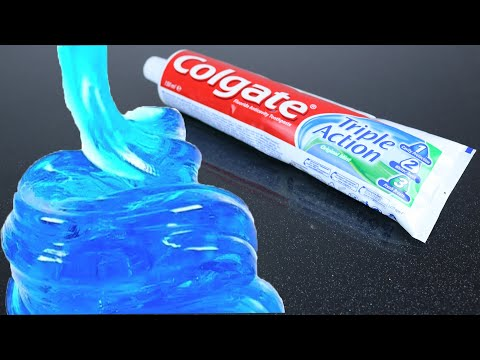 Real 1 ingredient Slime! Only Toothpaste and Salt ,NO GLUE Slime Recipe,No Borax