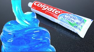 Real 1 ingredient Slime! Oฑly Toothpaste and Salt ,NO GLUE Slime Recipe,No Borax