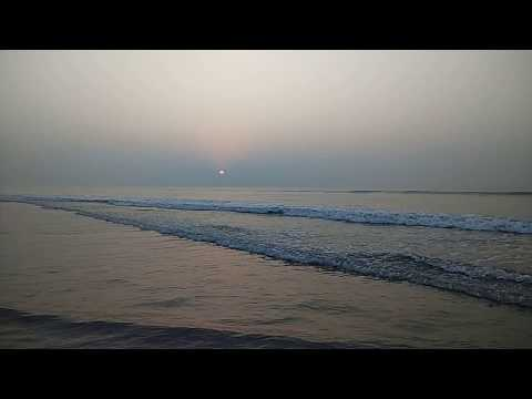 SUNRISE SEA VIEW WITH WAVE & ORIGINAL SOUND (NO EDITING)