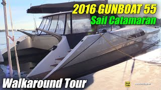 2016 Gunboat 55 Catamaran - Deck, interior Walkaround - 2015 Annapolis Sail Boat Show