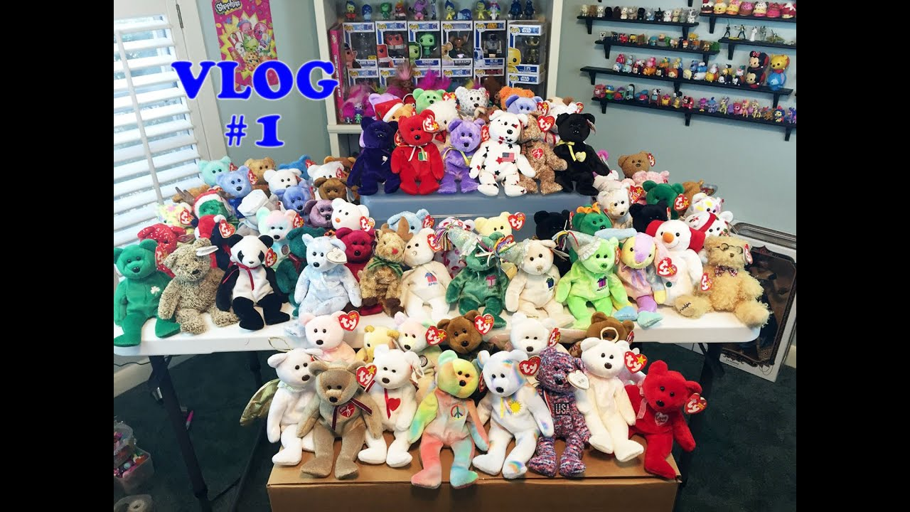 moving vlog 1 ty beanie babies collection packing youtube. Black Bedroom Furniture Sets. Home Design Ideas