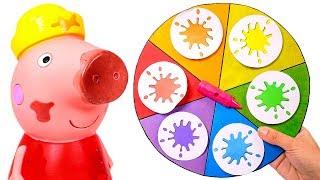 PEPPA PIG 🌈 Aprende los colores jugando con la Ruleta de Peppa Pig