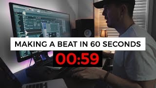 Making a beat in 60 seconds. (Beat Making Challenge)
