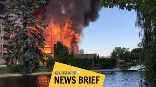 Fire rips through condos
