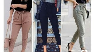 Latest Trouser pants for girls 2018|collage outfits for girls 2018 fashion mantra |