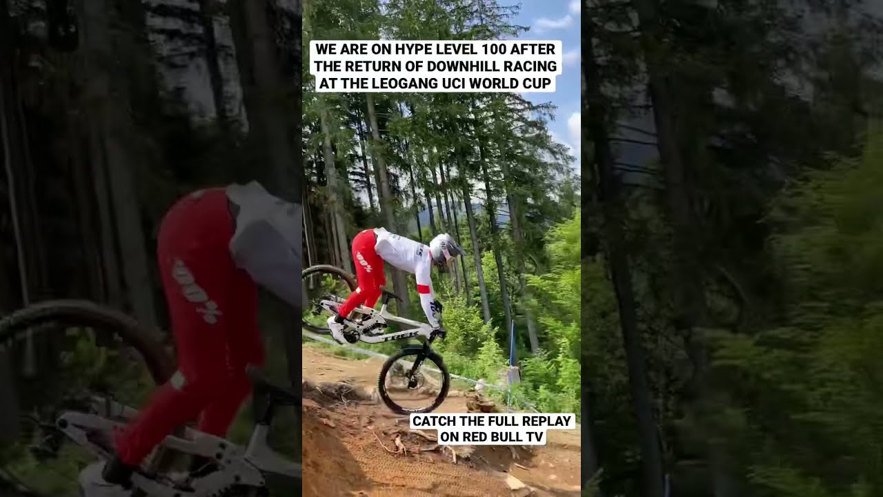 Downhill MTB Racing From The Leogang UCI World Cup #Shorts