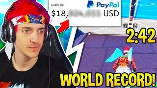 NINJA Reveals How Mขch MONEY He REALLY Makes! Mongraal Edit Course WORLD RECORD (Fortnite Moments)