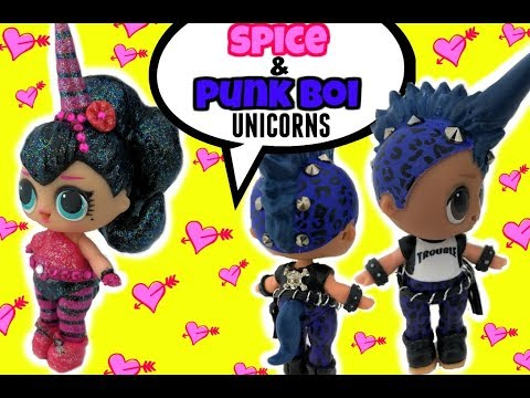 LOL Punk Boi UNICORN CUSTOM & NEW Spice Unicorn Too! DIY Craft Video & Doll Story