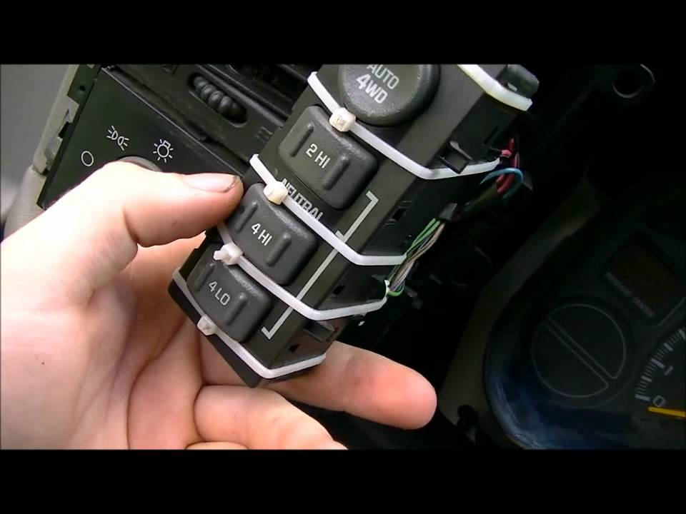 2002 Chevy Blazer Wiring Diagram Cooker 1999-2007 Truck 4wd Switch - Youtube