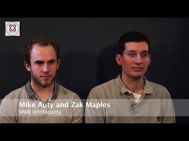 Mike Auty and Zak Maples, MWR InfoSecurity