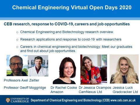Chemical Engineering and Biotechnology at Cambridge: Research projects, jobs and careers
