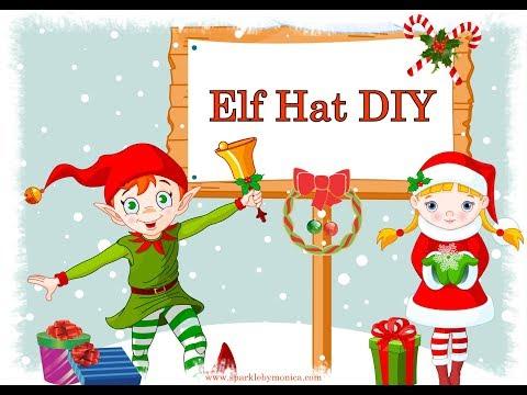 DIY Christmas Elf Hats and Template
