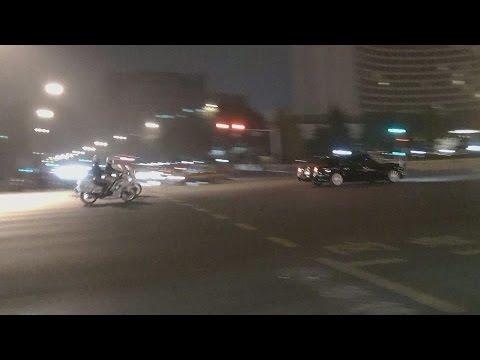 Mongolia President Motorcade Police Escort in Beijing