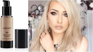 Inglot HD foundation review and application | price, colour