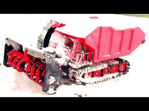 Monster Robotic Snow Machine goes to Work! (100% 3D Printed) SPYKER KAT | RC ADVENTURES