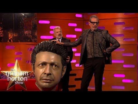 Jeff Goldblum Meets His Giant Head!  The Graham Norton