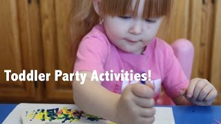 Birthday Party Activities for Toddlers! DIY! Cheap & Easy! Thumbnail