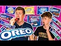 BROTHERS TRY EVERY FLAVOUR OF OREO IN THE WORLD