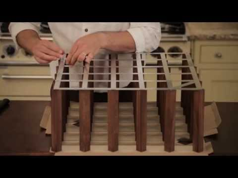 How To Assemble -  RTA Wine Bottle Traditional Wooden Wine Rack Self Assemble Kit - Pine Wood