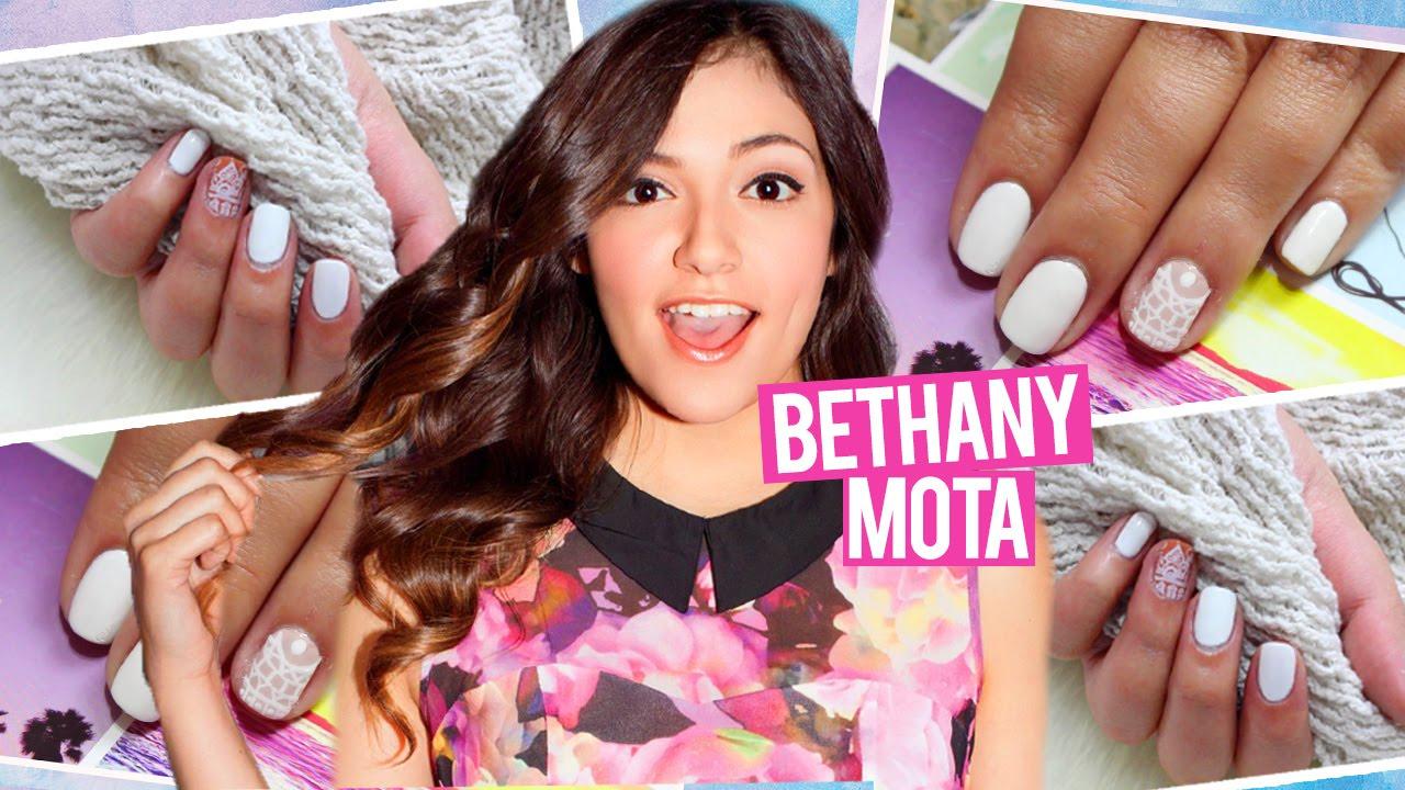 BETHANY MOTA Henna Nail Design 2 WAYS!!! - YouTube
