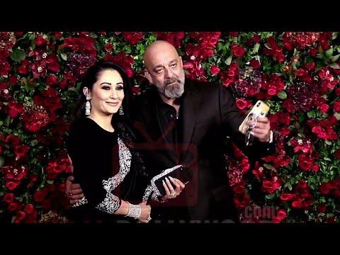 Sanjay Dutt New Look With Wife Manyata At Ranveer Deepika Reception Party #DeepVeer