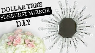 $4 DOLLAR TREE SUNBURST GLAM MIRROR D.I.Y