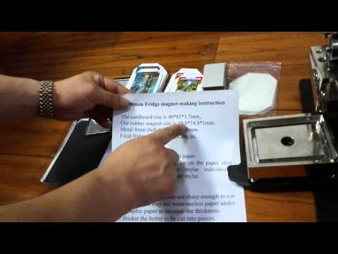 fridge magnet making instruction size of 53*80mm