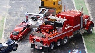 RC Fire Fighter Action Car Crash Crane Rescue - Emslandmodellbau Lingen 2016 (4K Ultra HD)