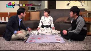 Kim Soomi and Jang Dongmin playing GoStop in English