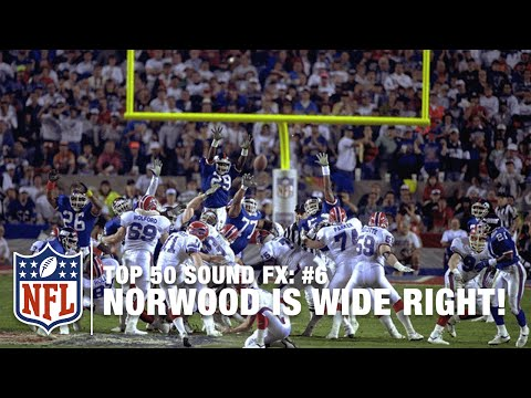 Top 50 Sound FX | #6: Bills Kicker Scott Norwood is Wide Right! | NFL