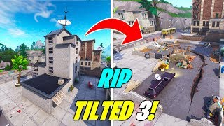 "*NEW* SEASON 7'S FINAL MAP CHANGE! RIP NEW TILTED BUILD ""3"" 😢(Fortnite Earthquake Event at Tilted)"