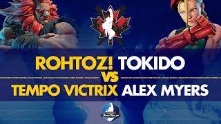 ROHTOZ! Tokido (Akuma) VS Tempo Victrix Alex Myers (Cammy) - Canada Cup 2019 Pools - CPT 2019