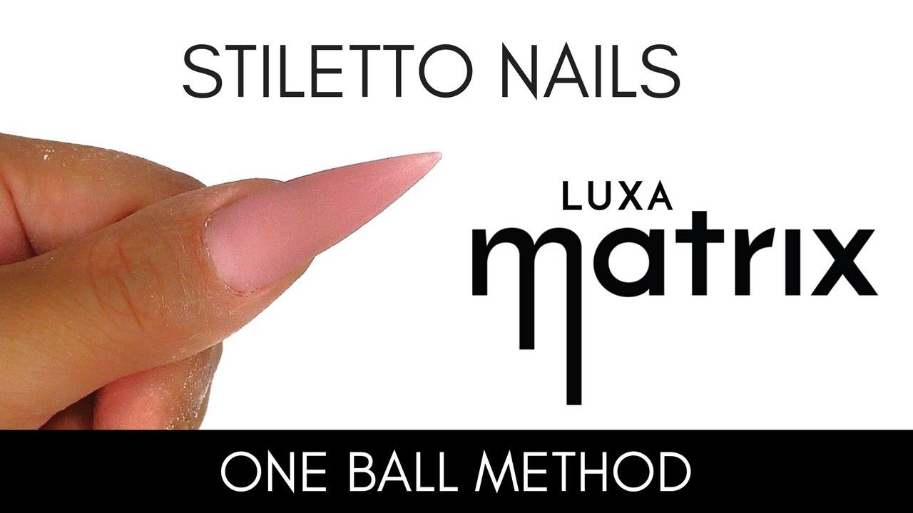 How to STILETTO NAILS   Luxa Matrix   LUXAPOLISH - YouTube