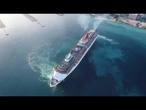 Carnival Cruise Ship Inside Port Of Nassau, Bahamas