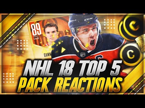 NHL 18 HUT: 'TOP 5 PACK REACTIONS OF THE WEEK' (INSANE PULLS)
