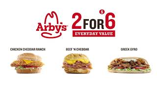 Arby's: 2 for $6 Everyday Value...