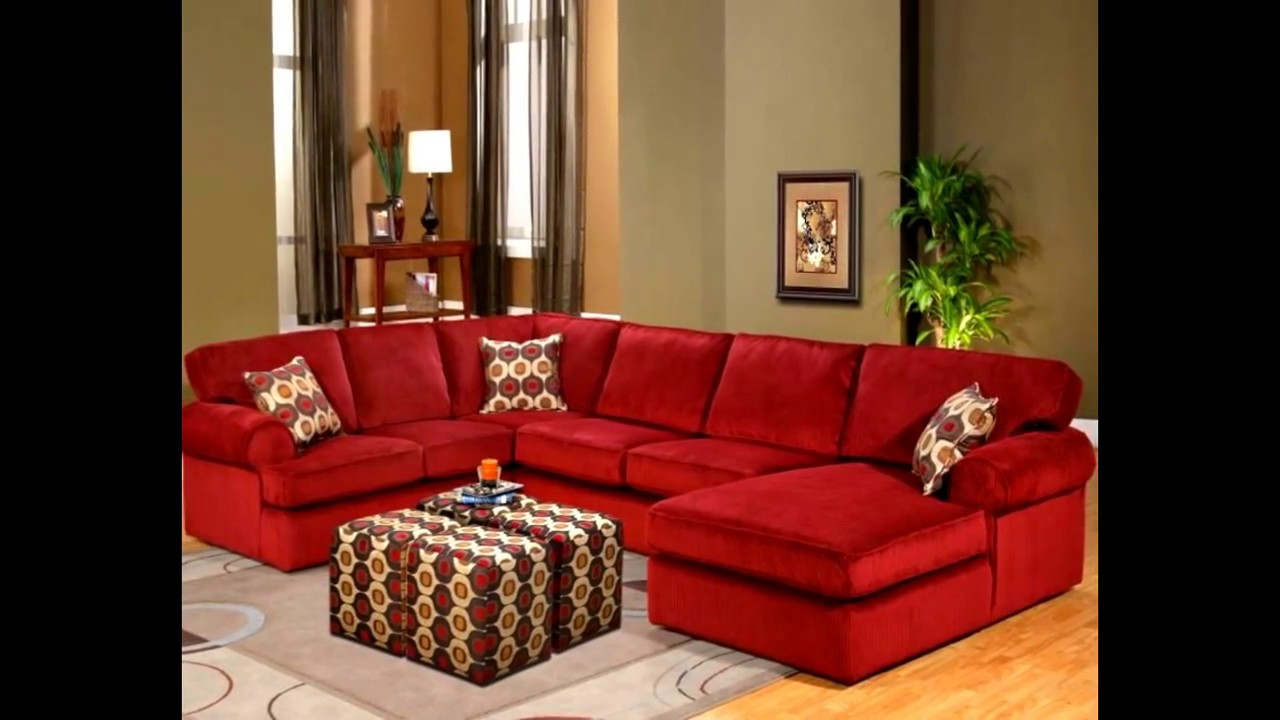 Magnificent Red Sectional Ideas Youtube