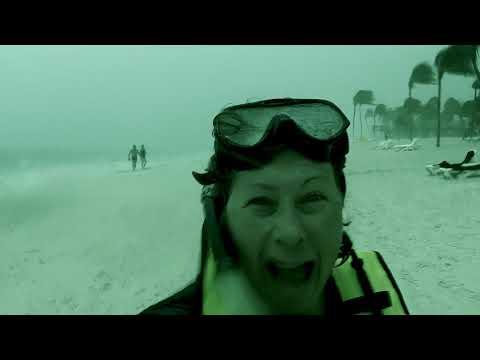 Caught in a Akumal Bay Storm