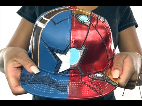 64184422 Captain America VS Ironman 'CHARACTER ARMOR' Fitted Hat by New Era ...