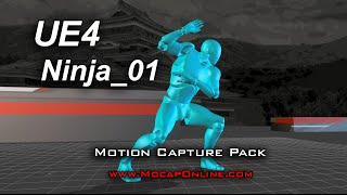 Ninja 01 for UE4 - Motion Capture Animation Pack