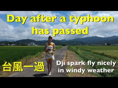 Dji spark fly nicely in windy weather 台風一過 Day after a typhoon has passed [#17]