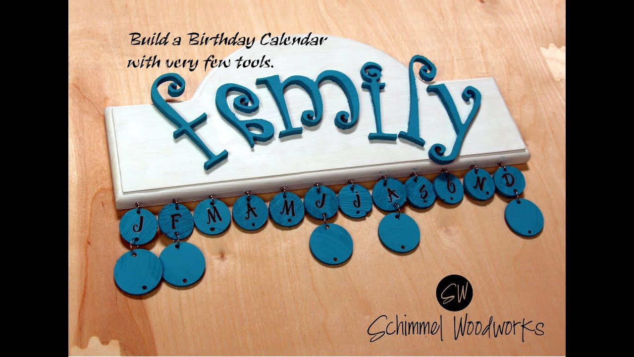 Diy Calendar Hanger : Make an almost no tool birthday calendar easy diy wall