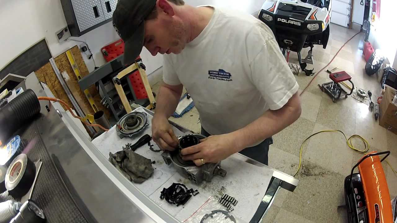 hight resolution of polaris rzr front differential sprague carrier replacement