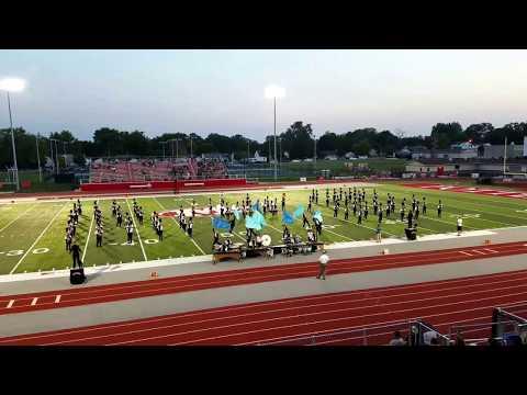 2017-09-16 Macomb Senior High School Marching Bomber Band at Morton