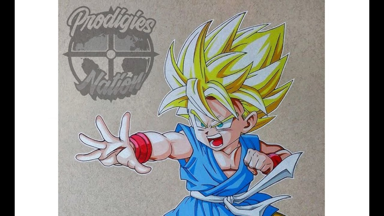 Drawingcolor Drawing Kid Goku Color Pencils Youtube