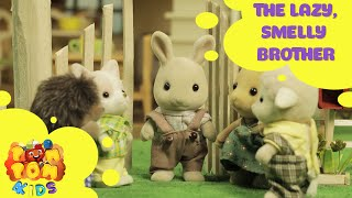 Kids Cartoon 2016 - Rabbit Story – Episode 1 - The Lazy, Smelly Brother - POMPOM4kids